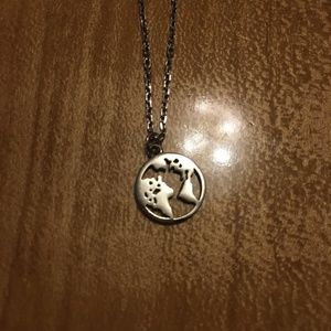 Sterling Silver Earth Necklace